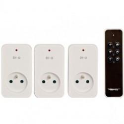 DIO - Télécommande 3 canaux et 3 modules prise ON/OFF 1500W