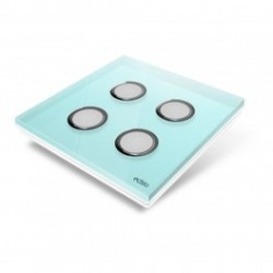 EDISIO - Plaque de recouvrement Diamond - Bleu Clair 4 touches