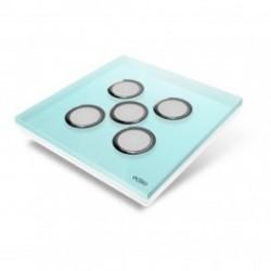 EDISIO - Plaque de recouvrement Diamond - Bleu Clair 5 touches