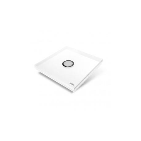 EDISIO - Plaque de recouvrement Diamond - Blanc 1 touche
