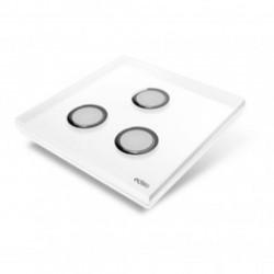 EDISIO - Plaque de recouvrement Diamond - Blanc 3 touches