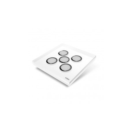 EDISIO - Plaque de recouvrement Diamond - Blanc 5 touches
