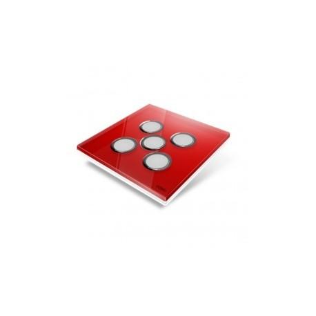 EDISIO - Plaque de recouvrement Diamond - Rouge 5 touches