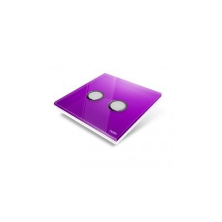EDISIO - Plaque de recouvrement Diamond - Mauve 2 touches