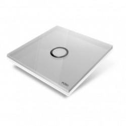 EDISIO - Plaque de recouvrement Diamond - Gris 1 touche