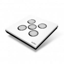 EDISIO - Interrupteur Elegance Blanc 5 Touches Base noire