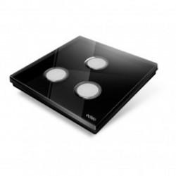 EDISIO - Interrupteur Diamond noir 3 Touches Base noire