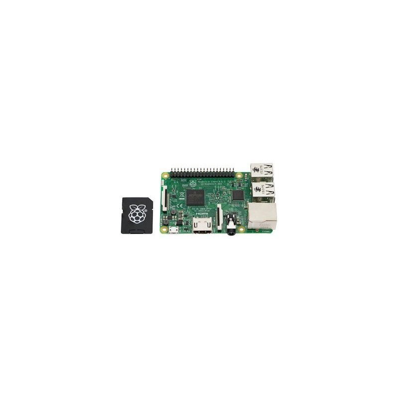 raspberry pi3 mod le b avec carte micro sd 16 go. Black Bedroom Furniture Sets. Home Design Ideas