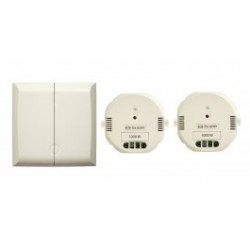 Chacon 54739 Interrupteur doubles sans fil émetteur + deux modules 1000 w récepteur