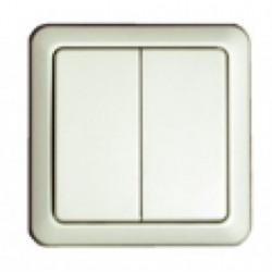 CHACON Interrupteur double 54502 sans fil émetteur