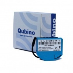 QUBINO micro-module commutateur 2 relais et conso-mètre Z-Wave ZMNHBA2
