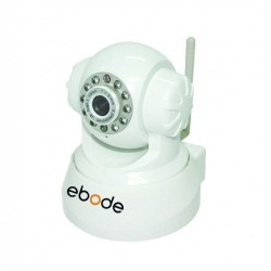 EBODE IPV38WE Caméra IP WiFi Pan / Tilt vision de nuit, angle 90° Blanche