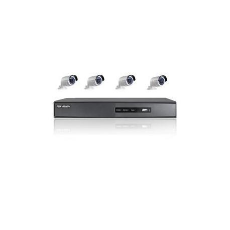 Pack vidéosurveillance - 4 caméras Bullet IR et un enregistreur 4 voies