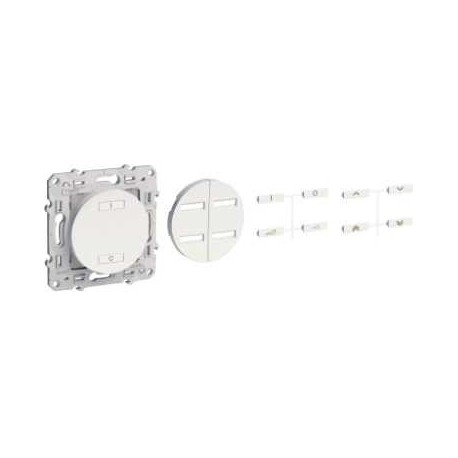 SCHNEIDER - Interrupteur sans fil radio 2 ou 4 boutons ON / OFF spécial rénovation blanc ODACE