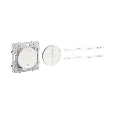Interrupteur sans fil radio 2 ou 4 boutons variateur SCHNEIDER couleur Anthracite ODACE