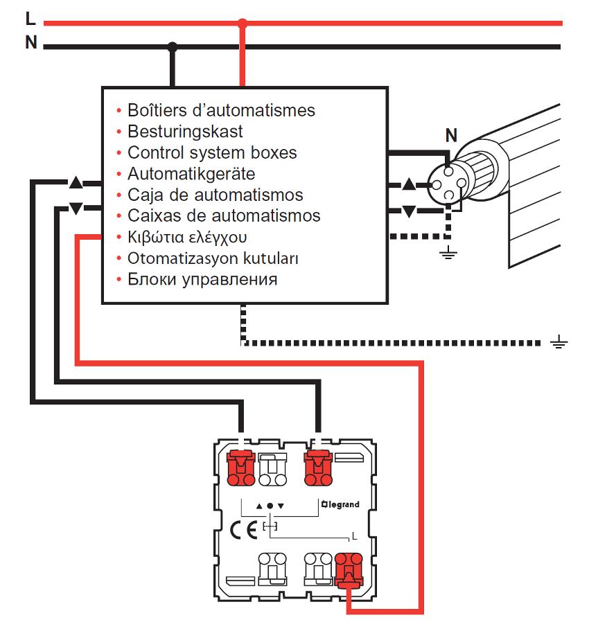 legrand bouton poussoir 067602 interrupteur poussoir pour module automatisme. Black Bedroom Furniture Sets. Home Design Ideas
