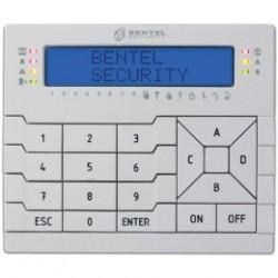 BENTEL - Teclado LCD, lector de placas de identificación, para la central de alarma ABSOLUTA