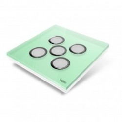 EDISIO - cover Plate Diamond - Light Green 5 keys