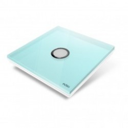 EDISIO - cover Plate Diamond - Light Blue 1 button