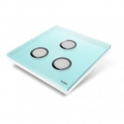 EDISIO - cover Plate Diamond - Light Blue 3 keys