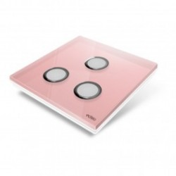 EDISIO - abdeckplatte-Diamond - Pink 3 tasten