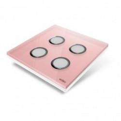 EDISIO - abdeckplatte Diamond Rose 4 tasten