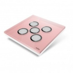 EDISIO - Plaque de recouvrement Diamond - Rose 5 touches