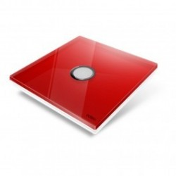 EDISIO - Plaque de recouvrement Diamond - Rouge 1 touche
