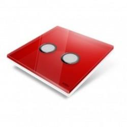 EDISIO - abdeckplatte-Diamond - Rot 2 tasten