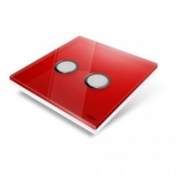 EDISIO - Plaque de recouvrement Diamond - Rouge 2 touches