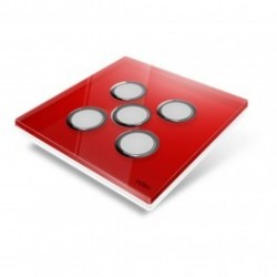 EDISIO - Plaque de recouvrement Diamond - Rouge 5 touches