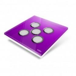 EDISIO - abdeckplatte-Diamond - Lila, 5 tasten
