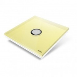 EDISIO - cover Plate Diamond - Yellow-1 button