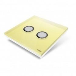 EDISIO - abdeckplatte Diamond - Gelb 2 tasten