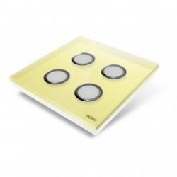 EDISIO - abdeckplatte Diamond - Gelb 4 tasten