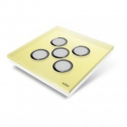 EDISIO - cover Plate Diamond Yellow - 5 keys