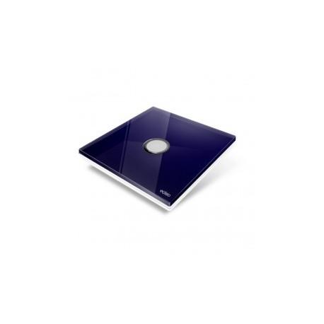 EDISIO - Plaque de recouvrement Diamond - Bleu nuit 1 touche