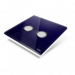 EDISIO - Plaque de recouvrement Diamond - Bleu nuit 2 touches