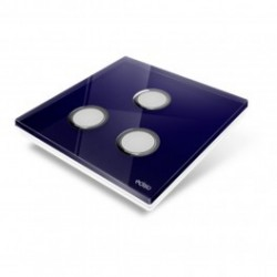 EDISIO - cover Plate Diamond - Blue night 3 keys
