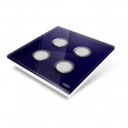 EDISIO - abdeckplatte-Diamond - Blau nacht-4 tasten