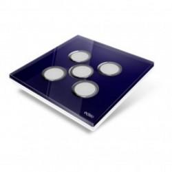 EDISIO - cover Plate Diamond - night-Blue 5 keys
