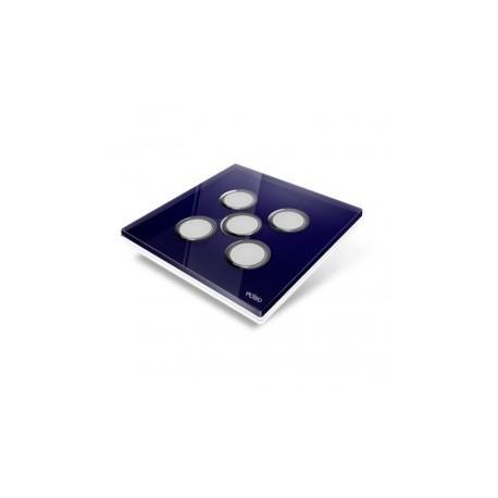 EDISIO - Plaque de recouvrement Diamond - Bleu nuit 5 touches