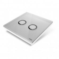 EDISIO - Plaque de recouvrement Diamond - Gris 2 touches