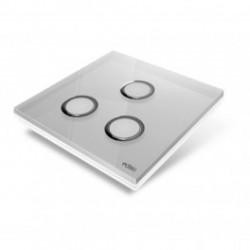 EDISIO - Plaque de recouvrement Diamond - Gris 3 touches