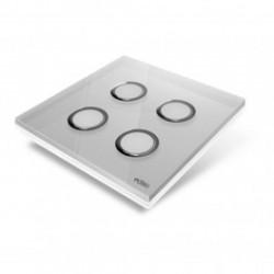 EDISIO - Plaque de recouvrement Diamond - Gris 4 touches