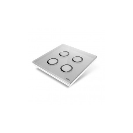 EDISIO - Plaque de recouvrement Diamond - Gris 4 touches