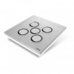 EDISIO - Plaque de recouvrement Diamond - Gris 5 touches