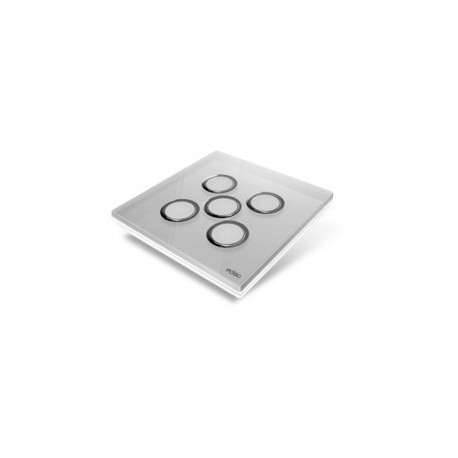 EDISIO - Plaque de recouvrement Diamond - Gris 5 touches