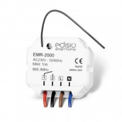 EDISIO - Receiver 868,3 MHz on / Off / Momentary - 10A MAX