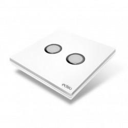EDISIO - Schalter Elegance Weiß 2 Tasten, Weiße Basis